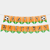 Гирлянда бумажная З днем народження Футбол