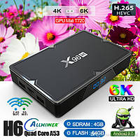 Приставка Smart TV Box X96H Allwinner H603 Android 4Gb/32Gb Black