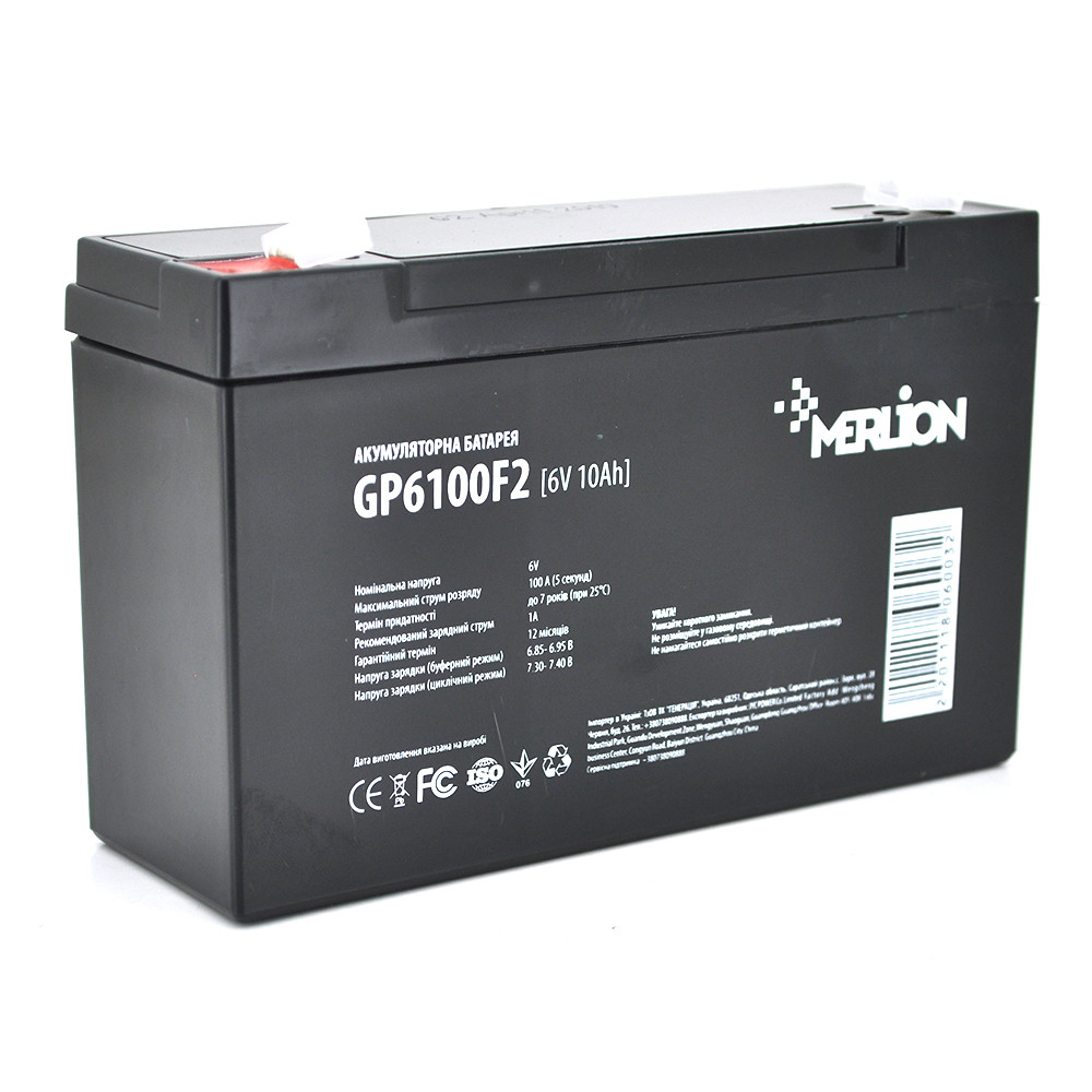 Аккумуляторная батарея AGM MERLION  GP610F2 6V 10Ah