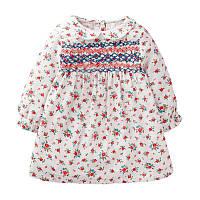 Трикотажное нежное детское платье в цветочек Little maven