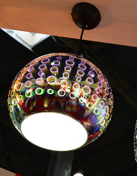 Светильник подвесной  Е27 3D-эффект круглый