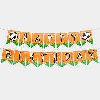 Гирлянда бумажная С днем рождения Футбол