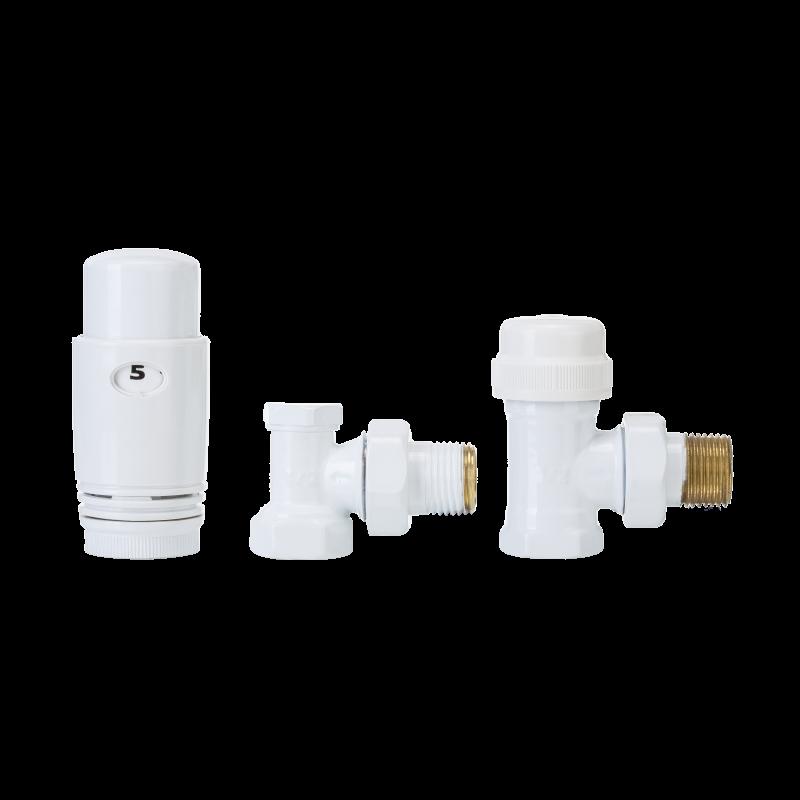 Комплект  радиаторный угловой (дизайнерский, белый) Invena