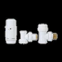 Комплект радіаторний кутовий (дизайнерський, білий) Invena