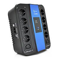ИБП Ritar U-Smart-1000 (600W), LED, AVR, 3st, 8xSCHUKO socket, 1x 12V 9Ah, RJ45