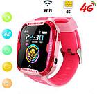 Умные детские часы Smart baby watch K22 Blue Android 6.0 4G видеочат GPS WiFi ip67, фото 6