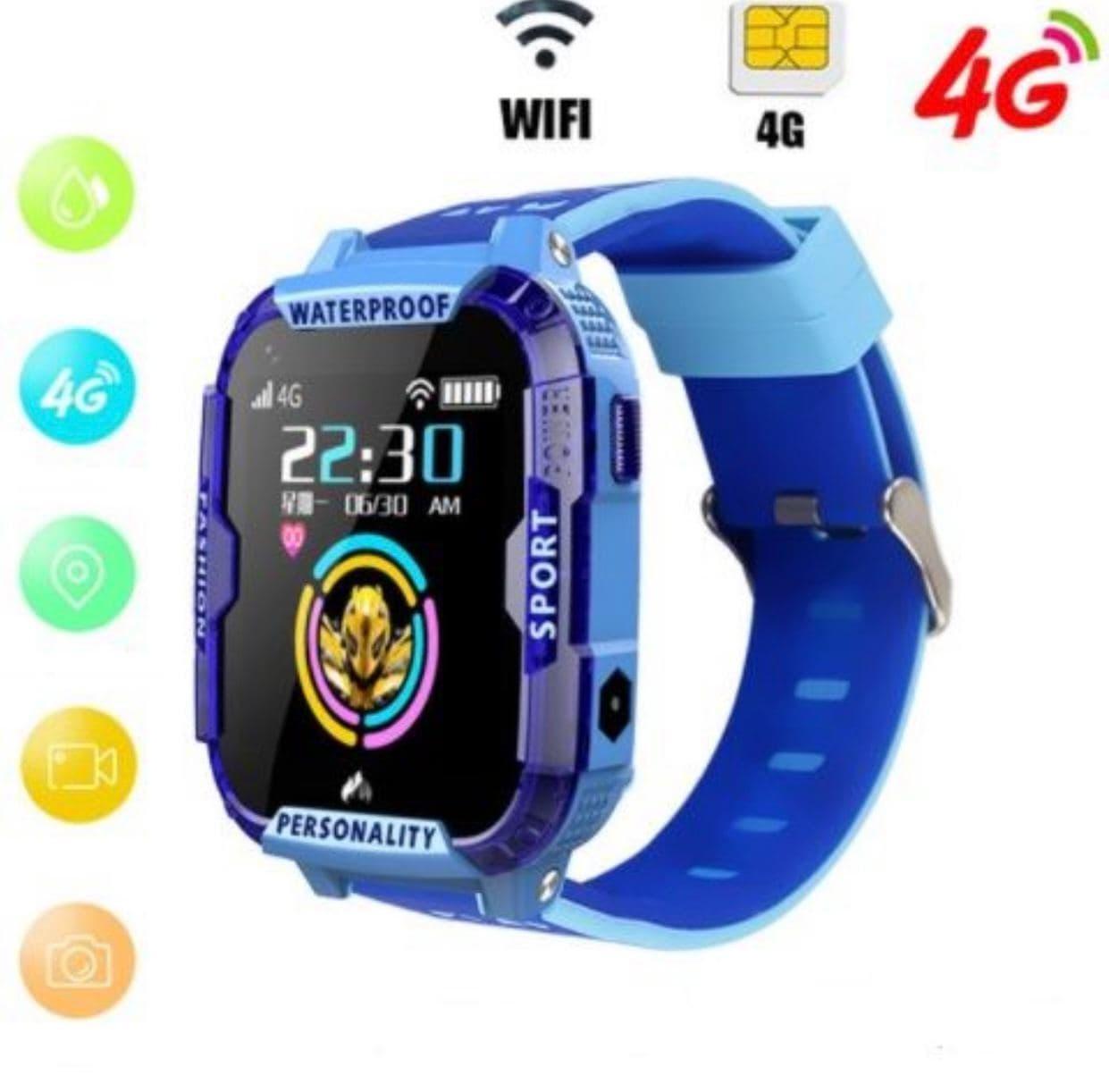Умные детские часы Smart baby watch K22 Blue Android 6.0 4G видеочат GPS WiFi ip67