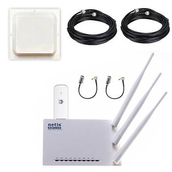 4G інтернет комплект Huawei WiFi в приватний будинок (MIMO 1800-2100 LTE-FDD швидкість до 150 Мбіт/c)