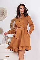 Замшевое платье мини, фото 1