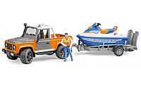 Игрушка Bruder джип Land Rover с прицепом и водным скутером (02599), фото 1
