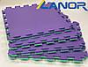 Мягкий пол пазл Lanor Спорт 500*500*20мм - Фиолетово-зеленый