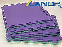 Мягкий пол пазл Lanor Спорт 500*500*20мм - Фиолетово-зеленый, фото 1