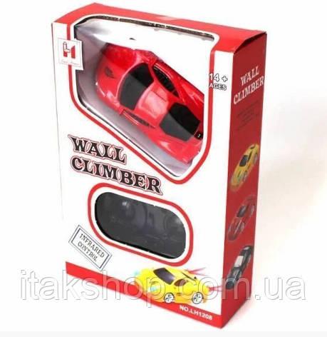 Антигравитационная машинка Wall Climber Car P801 ездит по стенам и потолку Красная, фото 2