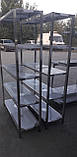 Стеллаж производственный 1300х500х1800 5 полок из 201 нержавеющей стали, фото 6