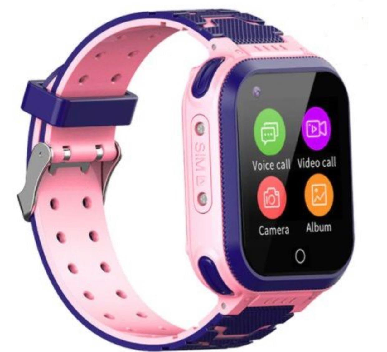 Умные детские часы Smart baby watch T3 Pink Android 6.0 4G видеочат GPS WiFi ip67