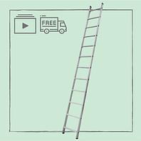 Лестница алюминиевая приставная на 12 ступеней