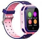 Умные детские часы Smart baby watch T3 Blue Android 6.0 4G видеочат GPS WiFi ip67, фото 5