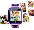 Умные детские часы Smart baby watch T3 Blue Android 6.0 4G видеочат GPS WiFi ip67, фото 4