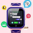 Умные детские часы Smart baby watch T3 Blue Android 6.0 4G видеочат GPS WiFi ip67, фото 3