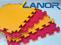 Мягкий пол пазл Lanor Спорт 500*500*20мм - Оранжево-красный, фото 1