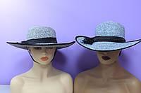 Шляпа женская летняя украшена бантом р. 56