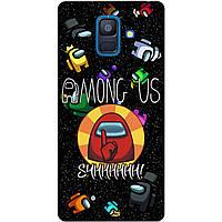 Силиконовый бампер чехол для Samsung A8 Plus с рисунком Among Us