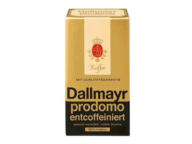 Кофе зерновой Dallmayr без кофеина Арабика 100 % Prodomo Entcoffeiniert 500 г Германия