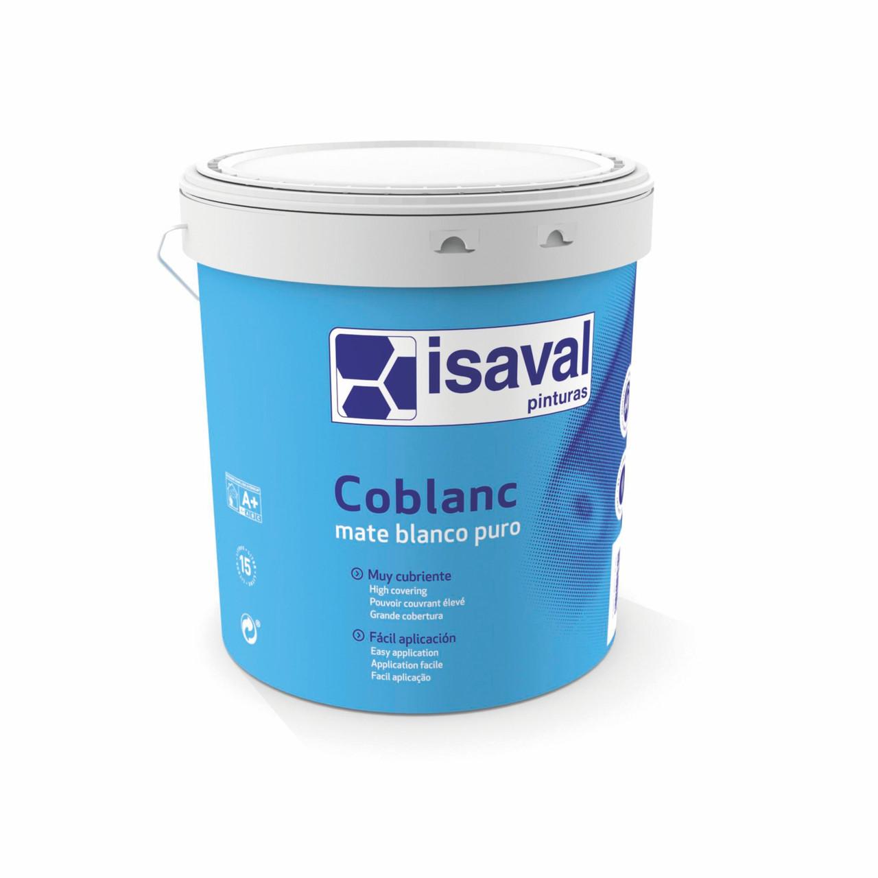 Фарба пластикова матова миюча КОБЛАНК ISAVAL 4л до 60м2/шар