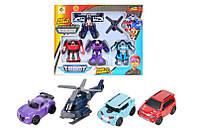 """Набор трансформеров """"Tobot"""" 4 шт 83168-TB4, Машинка-трансформер, Игрушки для мальчиков, Робот"""