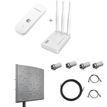Wifi Інтернет комплект для 4G LTE/ 3G інтернету (роутер + модем + антена )