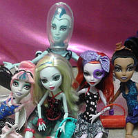 Набор кукол Monster High Рошель, Лагуна, Гилл, Робекка, Оперетта Танцкласс Монстер Хай Школа монстров