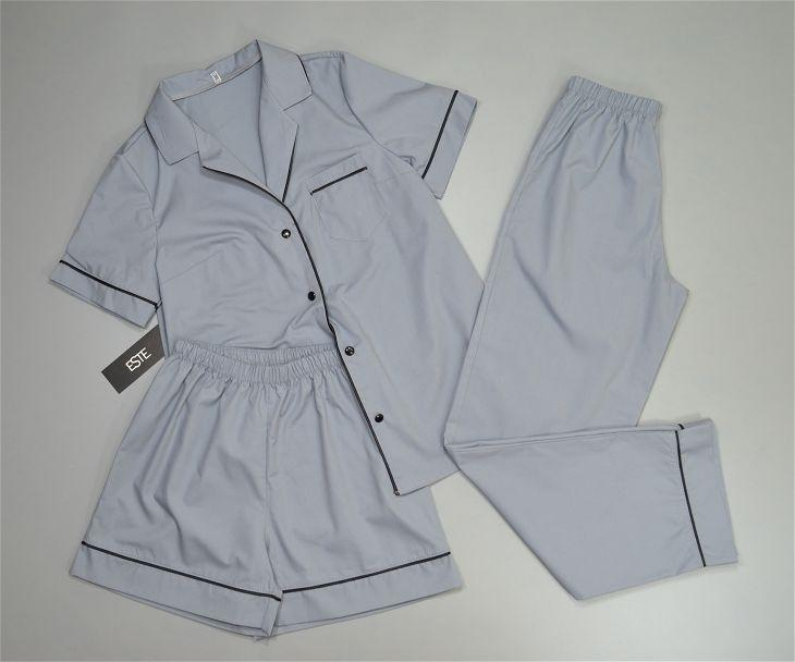 Пижама тройка рубашка штаны и шорты хлопок.