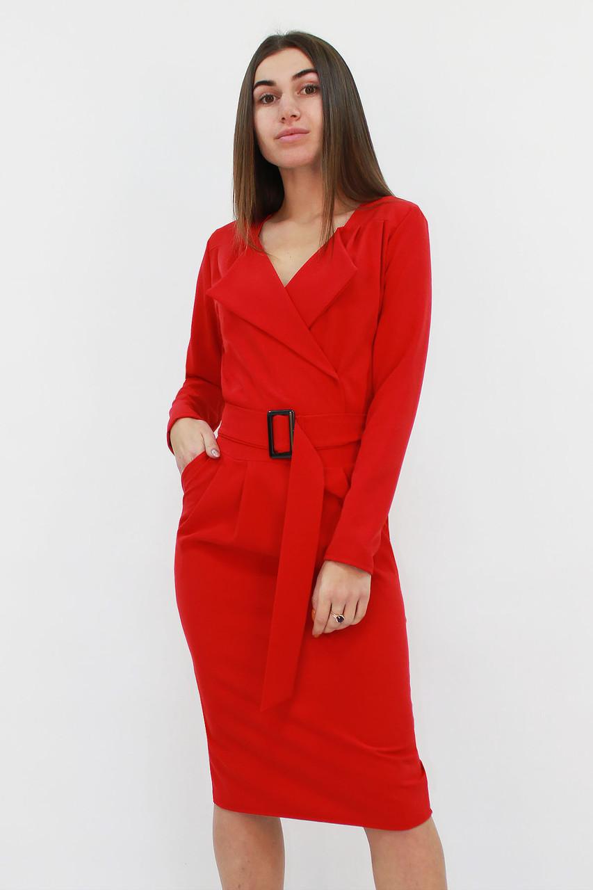 Классическое женское платье Mishell, красный