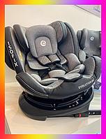 Детское автокресло с системой Isofix от рождения до 12 лет, El Camino Evolution 360º Royal Gray светло-серый