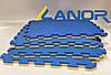 Мягкий пол пазл Lanor Спорт 500*500*20мм - Желто-синий