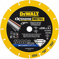 Диск алмазный диаметром 230 мм толщина 2.1 мм диаметр посадочного отверствия 22.23 мм DeWALT DT40255
