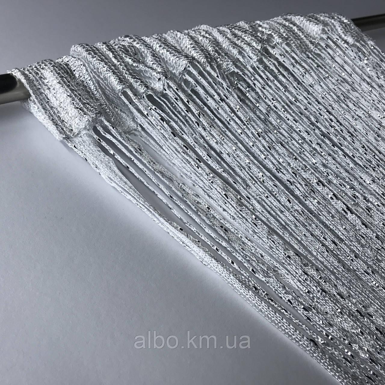 Нитевая тюль с люрексом 300x280 cm Белые (NL-7)