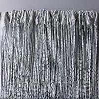 Нитевая тюль с люрексом 300x280 cm Белые (NL-7), фото 3
