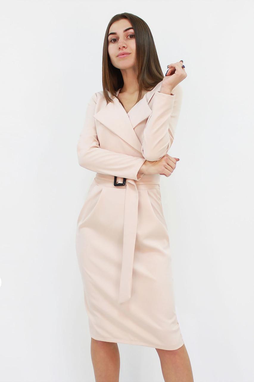 Вишукане класичне жіноче плаття Mishell, бежевий