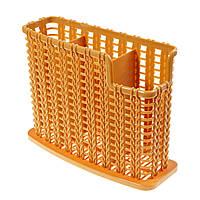 (GIPS), Плетений органайзер для столових приладів, коричневий