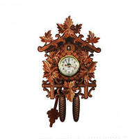 Настенные часы с маятником, часы с кукушкой, настенные часы, кукушка