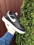 Зимові чоловічі кросівки Nike Air Force,чорно білі,на хутрі, фото 7