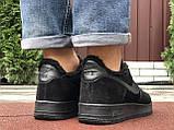 Зимові чоловічі кросівки Nike Air Force,чорні,на хутрі, фото 7