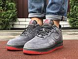 Зимние мужские кроссовки Nike Air Force,серые,на меху, фото 4