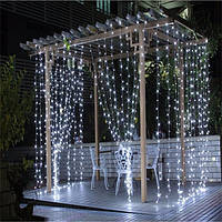 Гирлянда Xmas LED Водопад 3M*3M 480-WW белый, фото 1