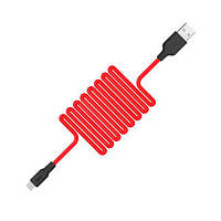 Зарядка USB кабель Hoco X21 USB для Huawei P Smart 2020 micro USB Red