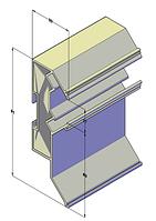 Профиль для натяжных потолков двухуровневый алюминиевый с рассеивателем 20 мм 2,5 м