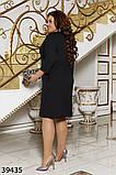 Стильное женское платье большого размера  Размеры: 48,50,52,54,56,58, фото 4