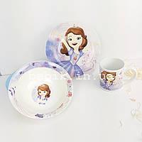 Набор детской керамической посуды для девочек Принцесса София