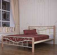 Кровать металлическая Миллениум Вуд 1,6 бежевая